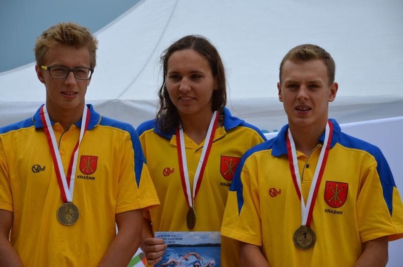 Złota sztafeta Juniorów 17-18 - K.Sola, M.Wieczorek i K.Zapalski