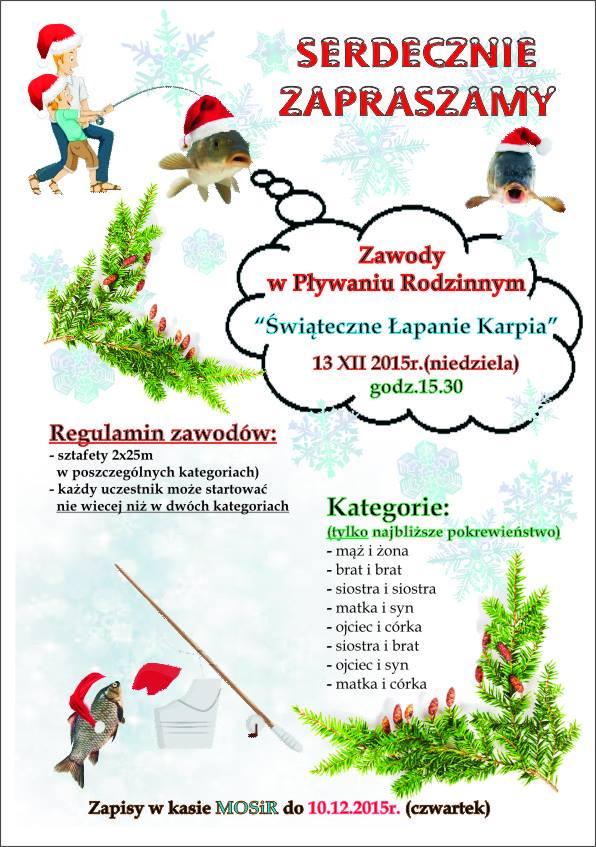 świąteczne łapanie karpia 2015